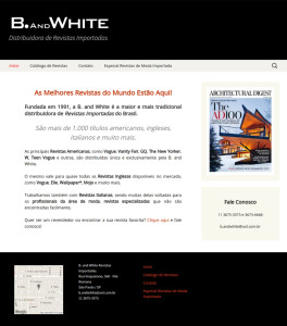 B. and White Revistas Importadas